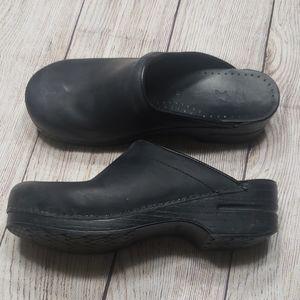 Dansko Backless Black Clogs